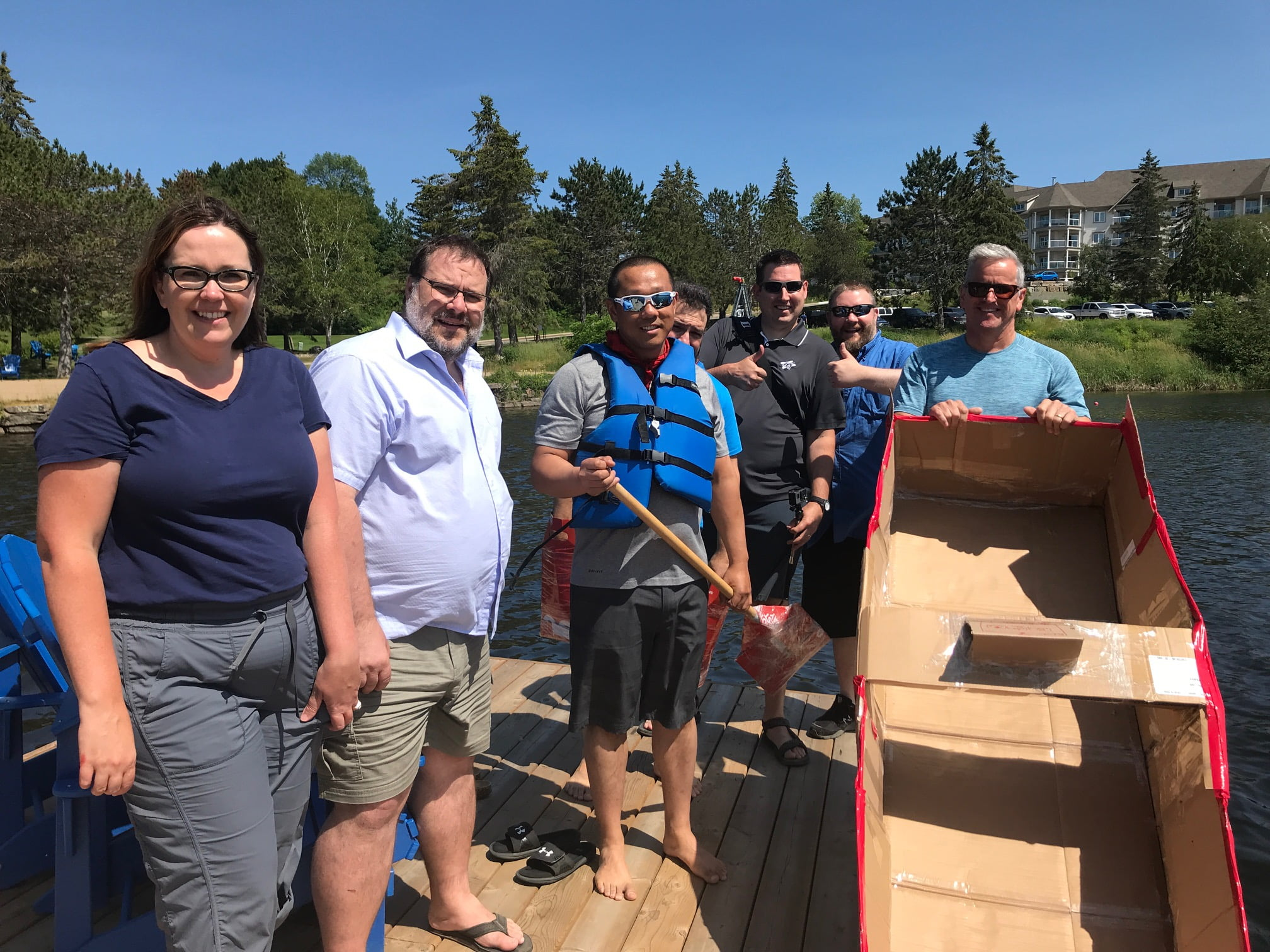 HealthHub Staff - Team Building Boat Challenge - Red Team