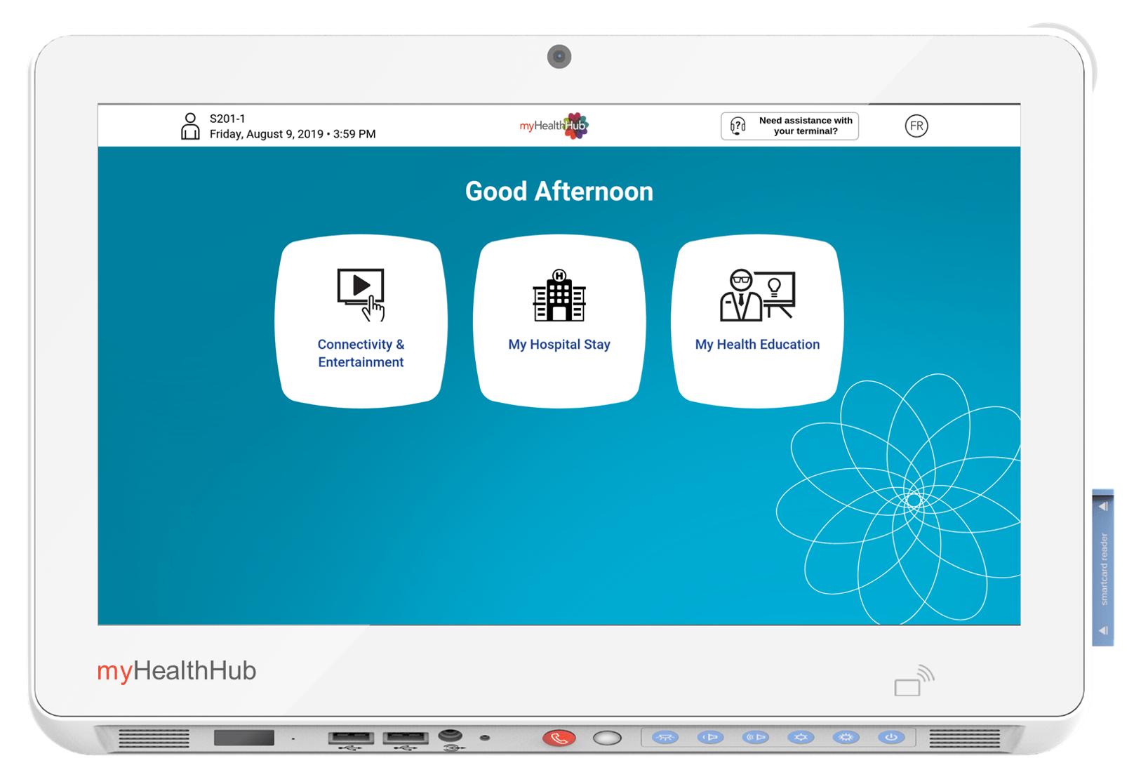 HealthHub Terminal - Menu Screen