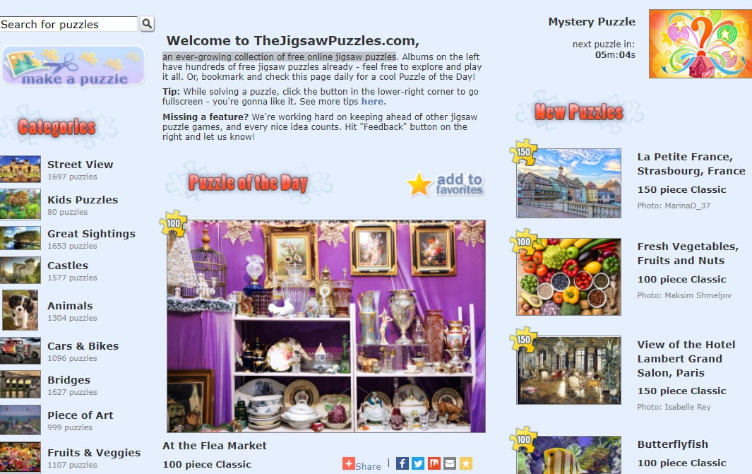Jigsaw Puzzles - Patient Resource Page